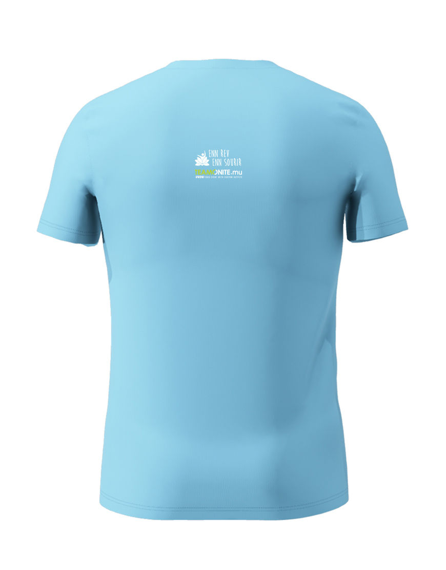 Enn Rev Enn Sourir Light Blue T-Shirt Black