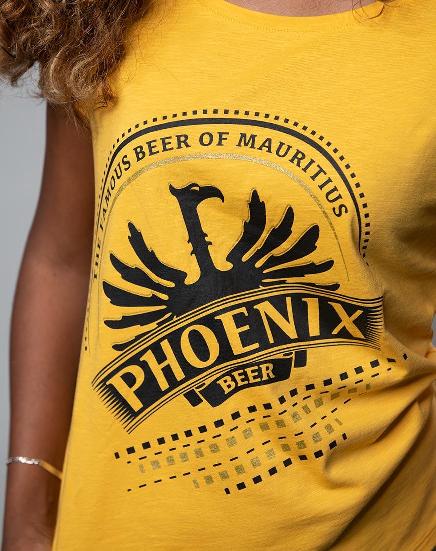Phoenix Beer Logo T-Shirt for women Mauritius
