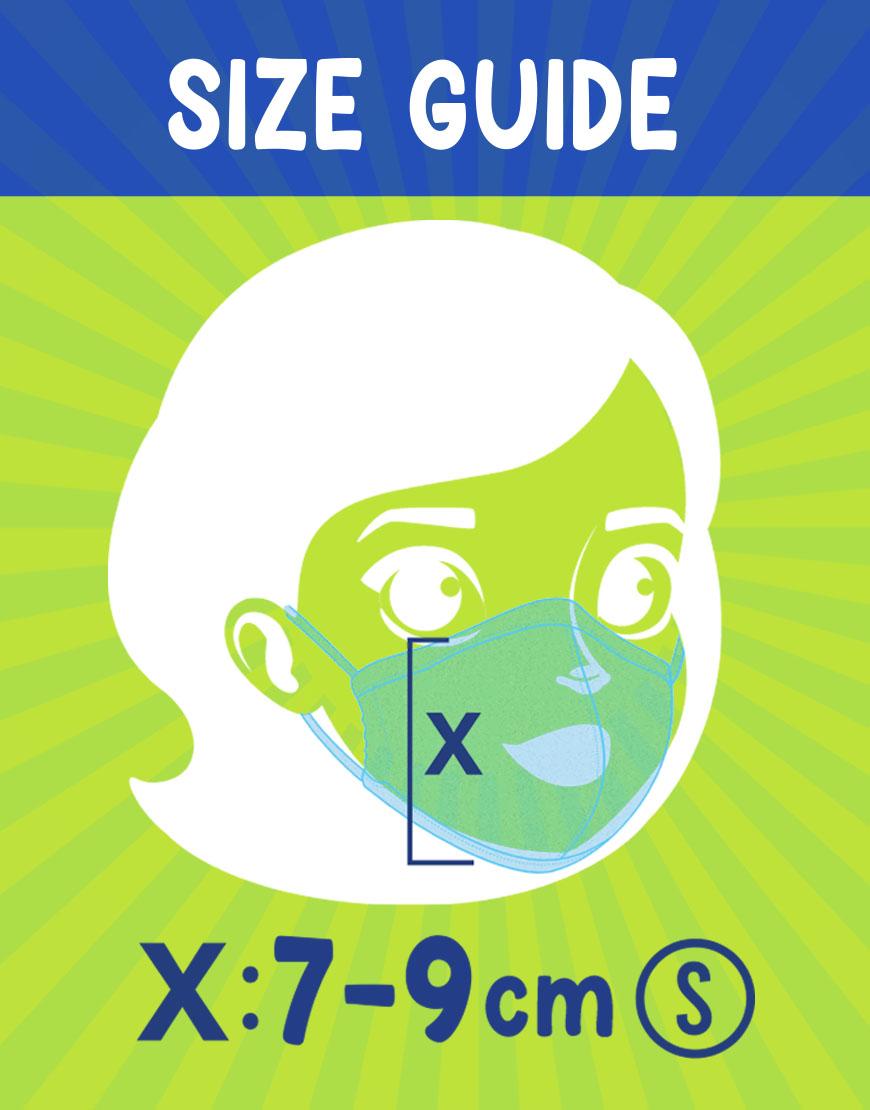 Junior face masks size guide