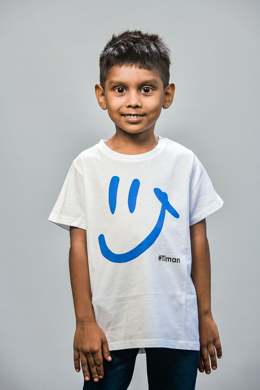 Kid's Blue Luna White T-Shirt Model 1
