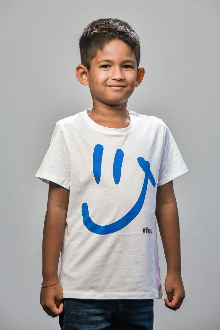 Tween's Blue Luna White T-Shirt Model 1