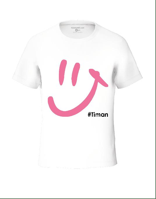 Timan Kid's Pink Luna White T-Shirt 3D