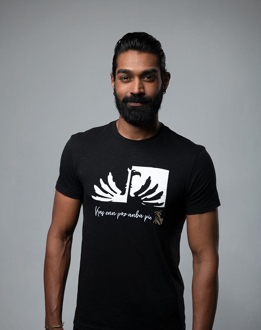 Kas enn poz anba pie - Men fashion t-shirt Mauritius