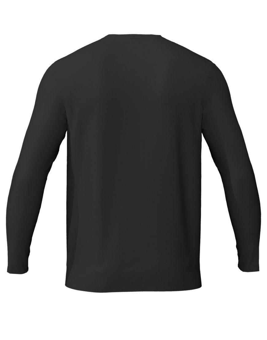 long sleeve unisex 3d t shirt black back