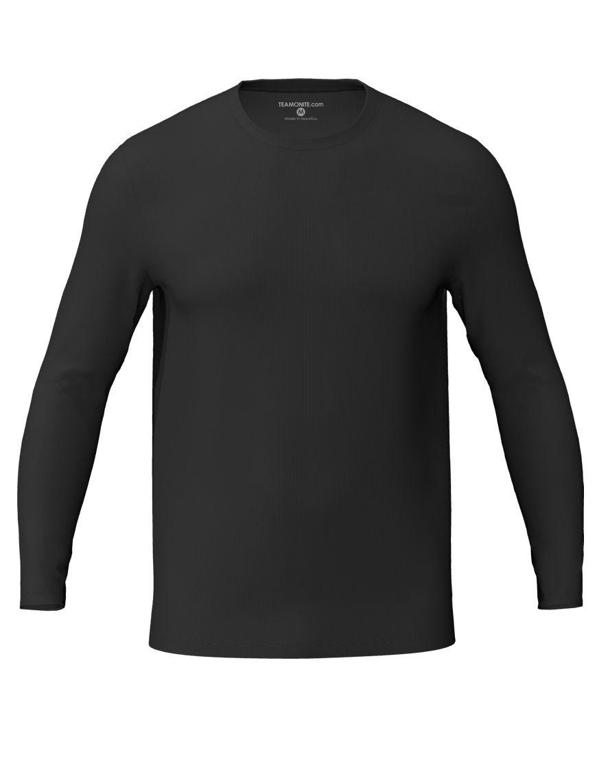 long sleeve unisex 3d t shirt black