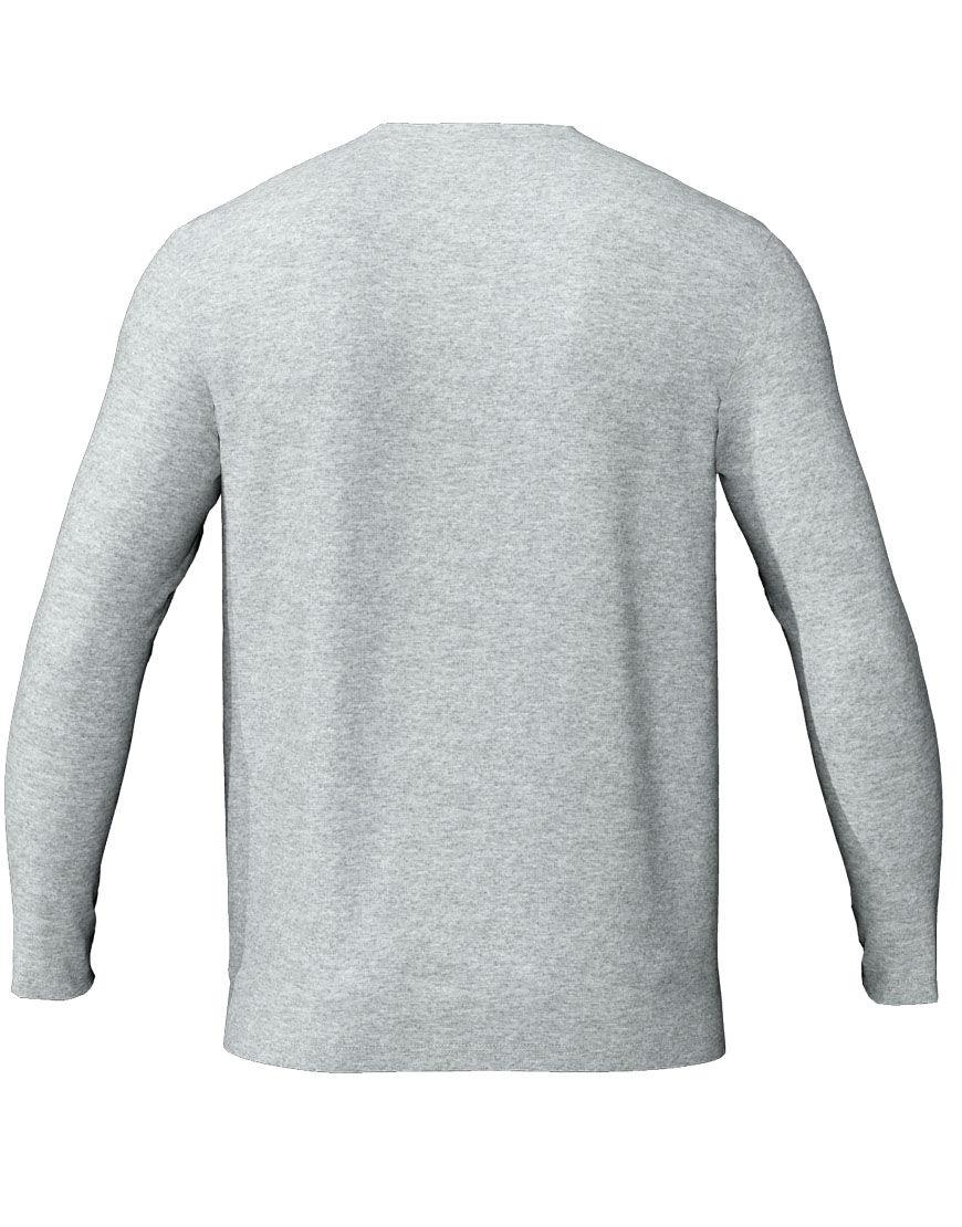 long sleeve unisex 3d t shirt grey back