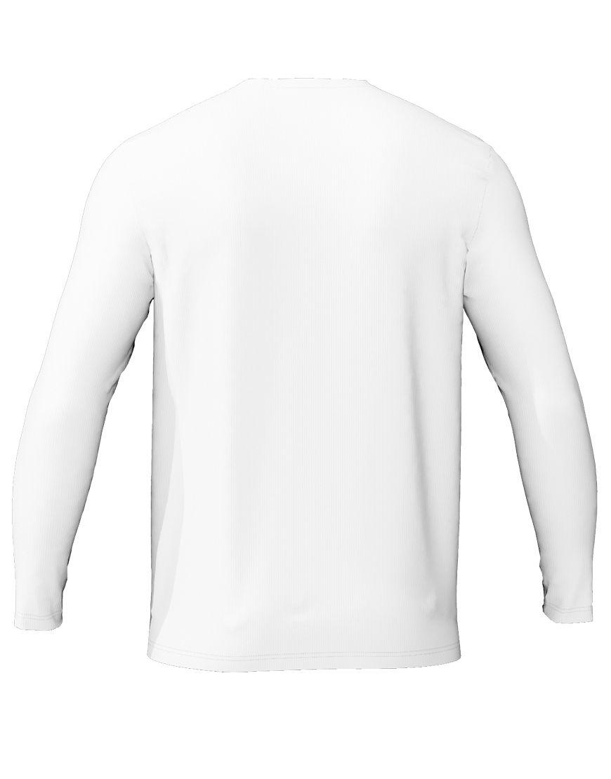 long sleeve unisex 3d t shirt white back