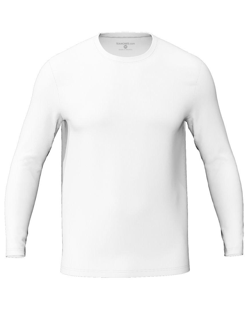 long sleeve unisex 3d t shirt white