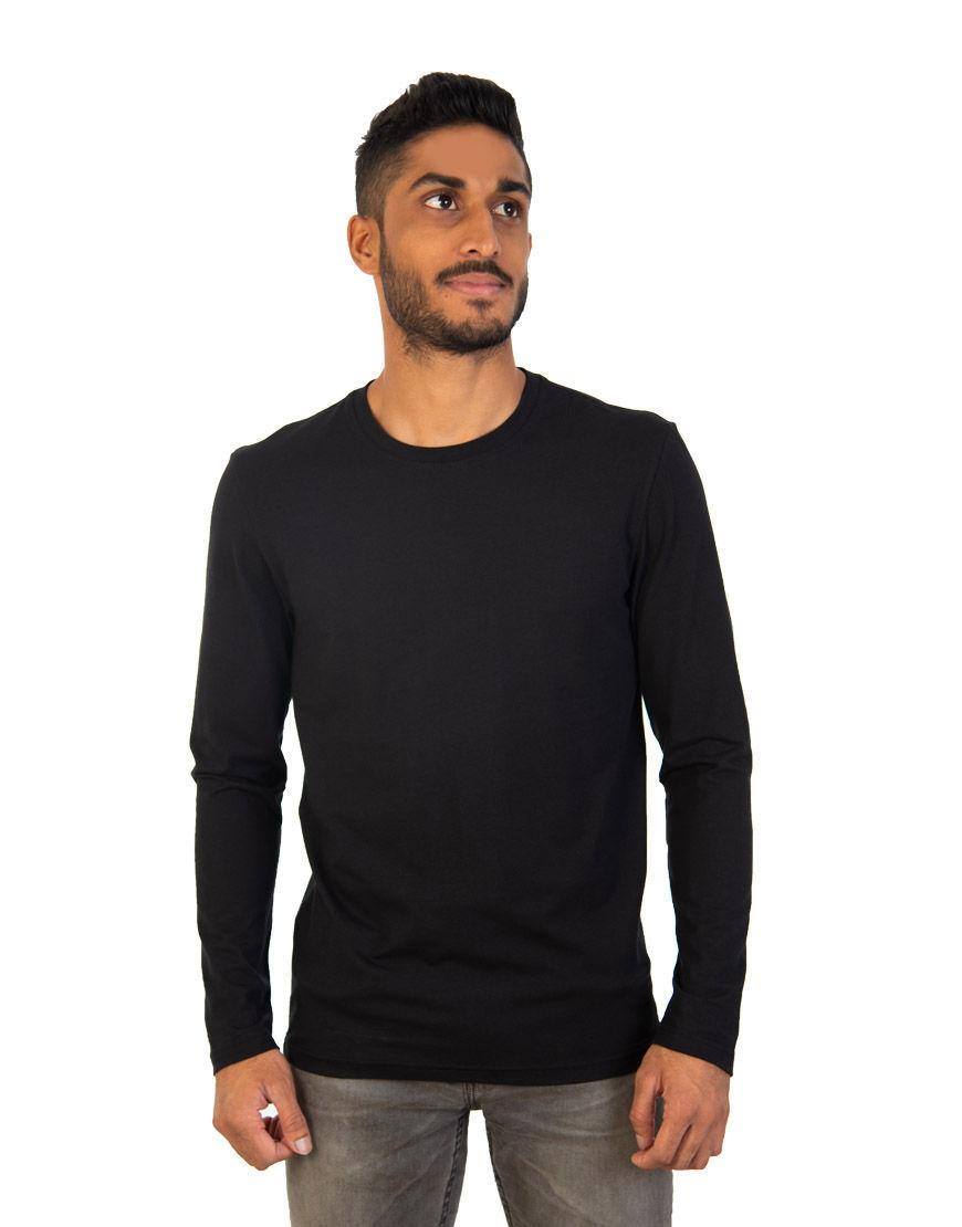 long sleeve unisex t shirt black