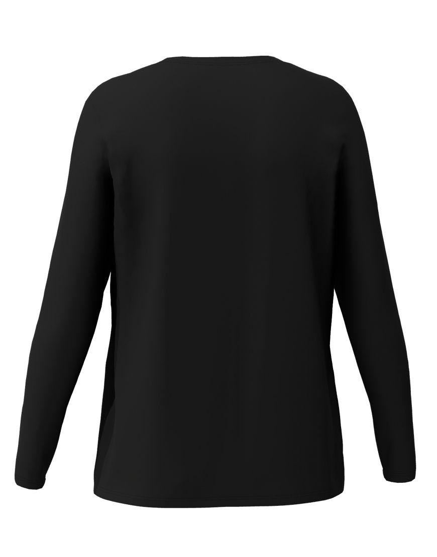 long sleeve women 3d t shirt black back