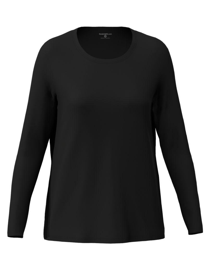long sleeve women 3d t shirt black
