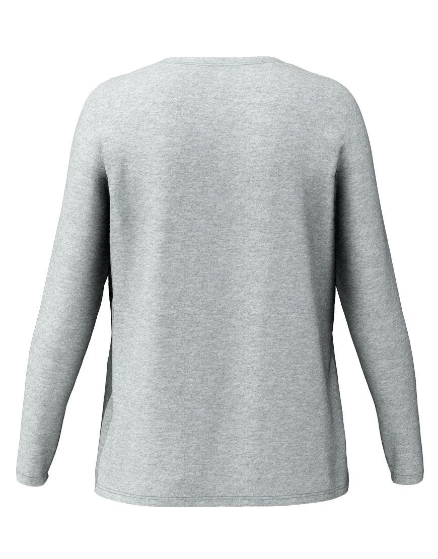 long sleeve women 3d t shirt grey back