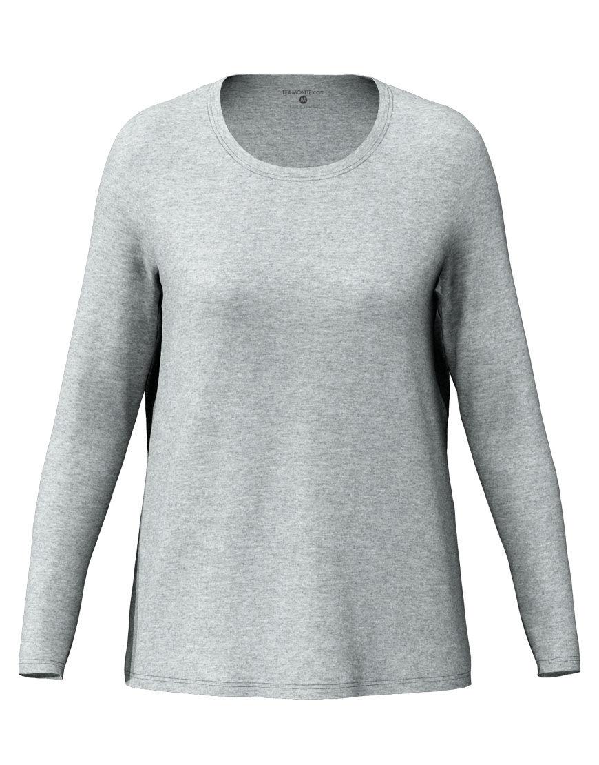 long sleeve women 3d t shirt grey