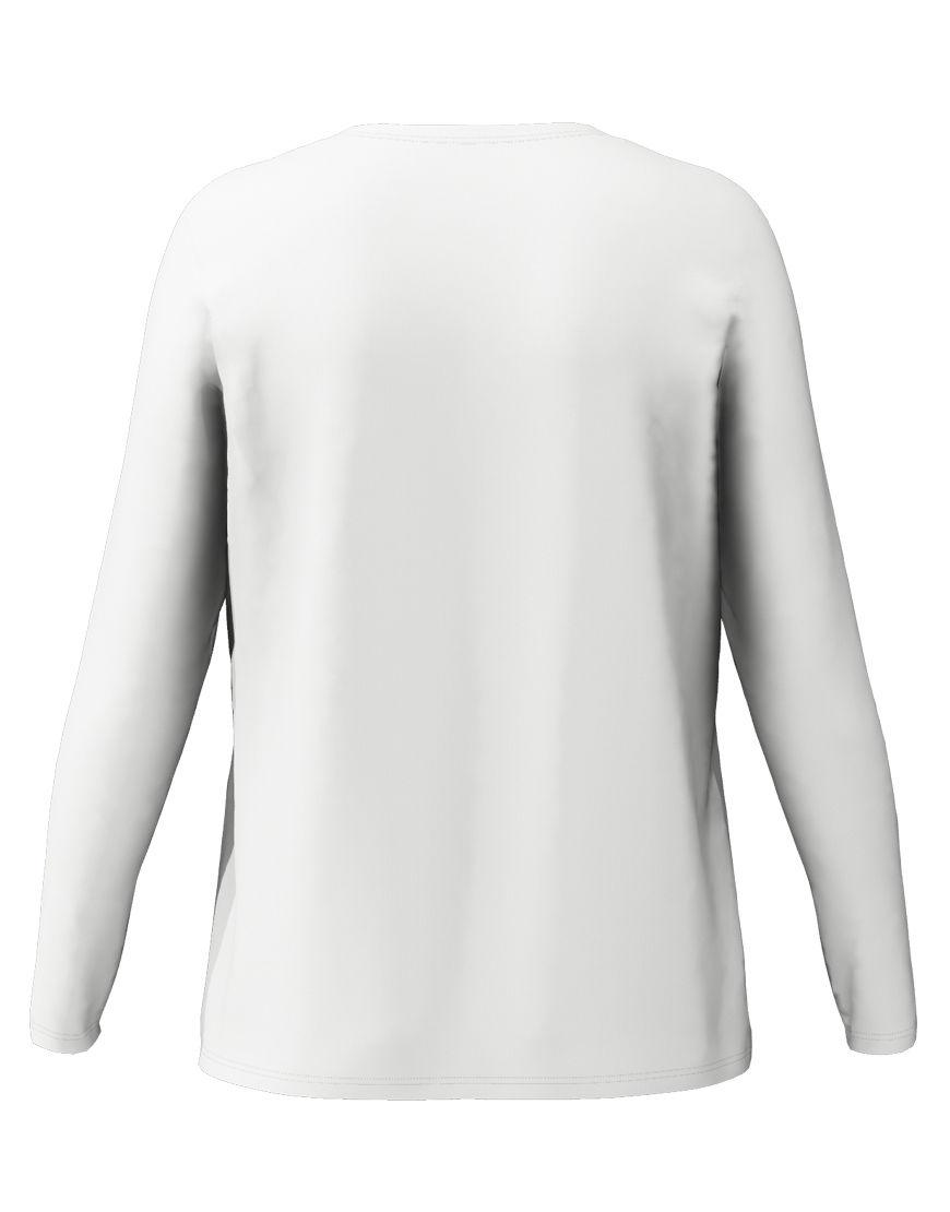 long sleeve women 3d t shirt white back