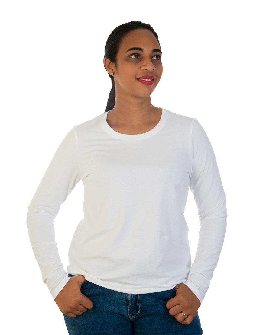 long sleeve women t shirt white