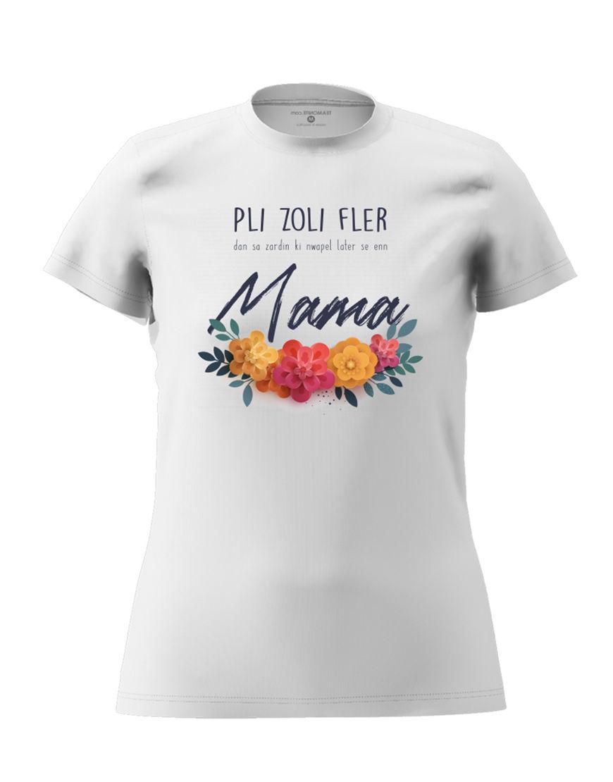 mama fler t shirt white