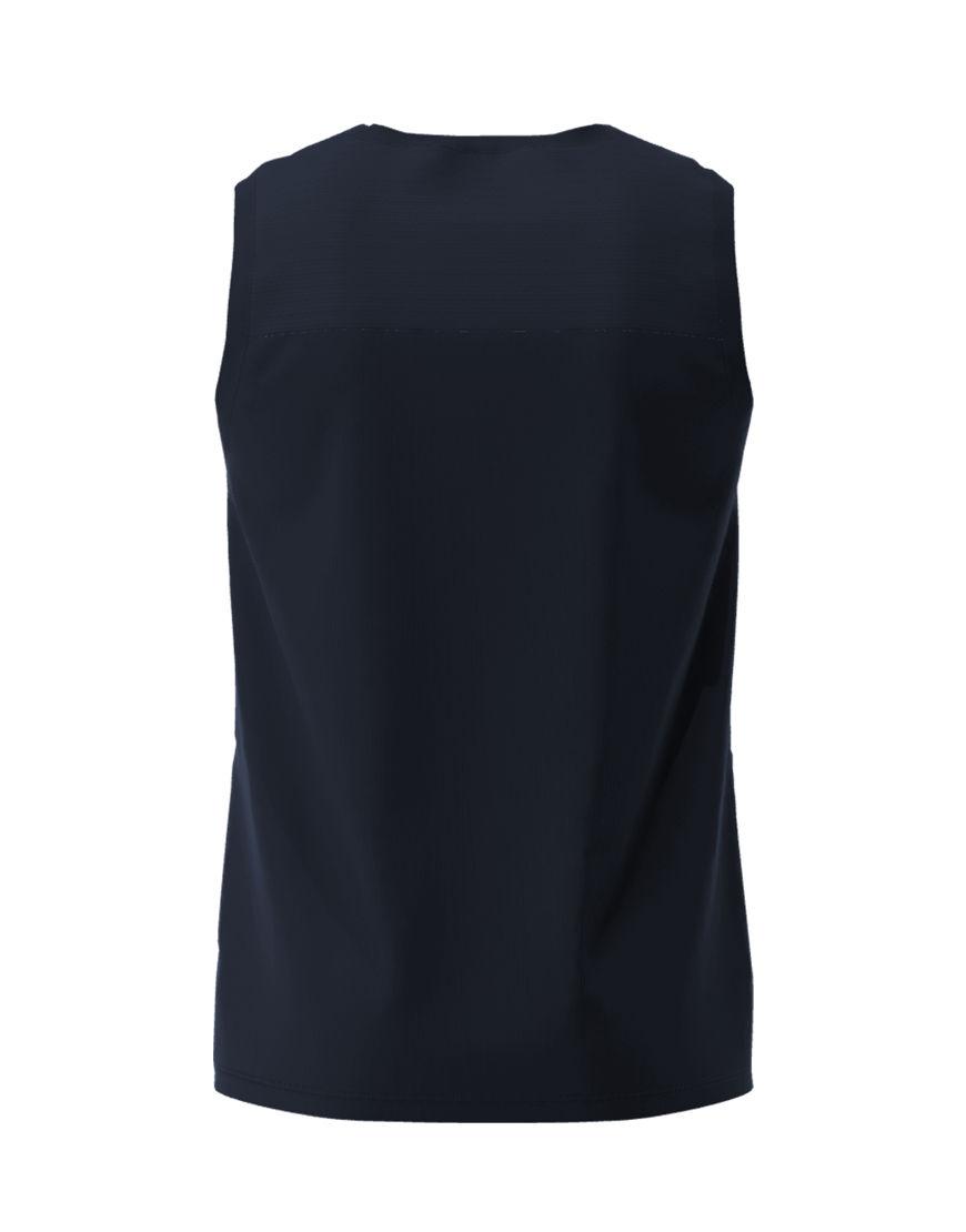 men performance sleeveless 3d top navy back