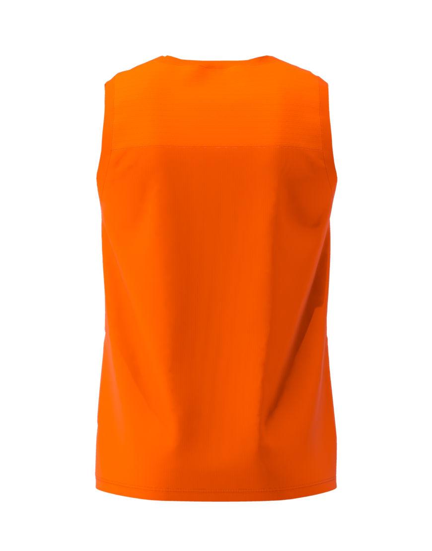 men performance sleeveless 3d top orange back