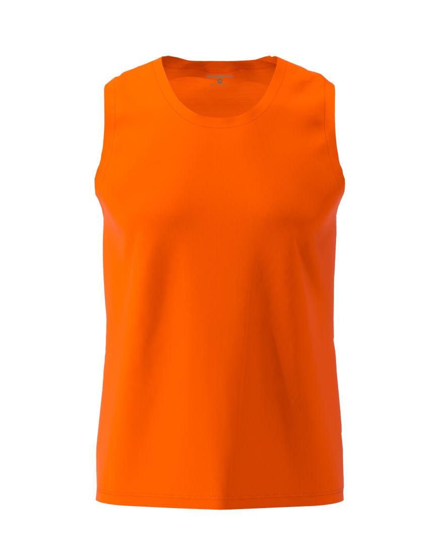 men performance sleeveless 3d top orange