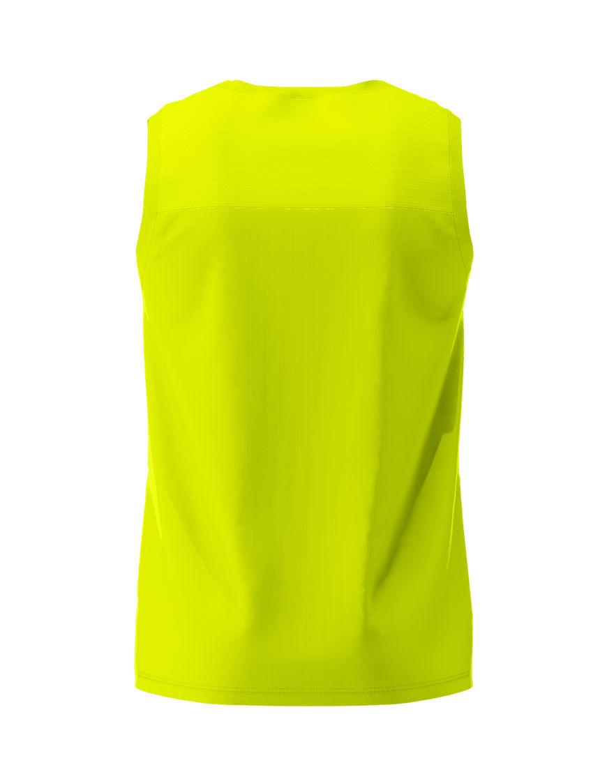men performance sleeveless 3d top yellow fluo back
