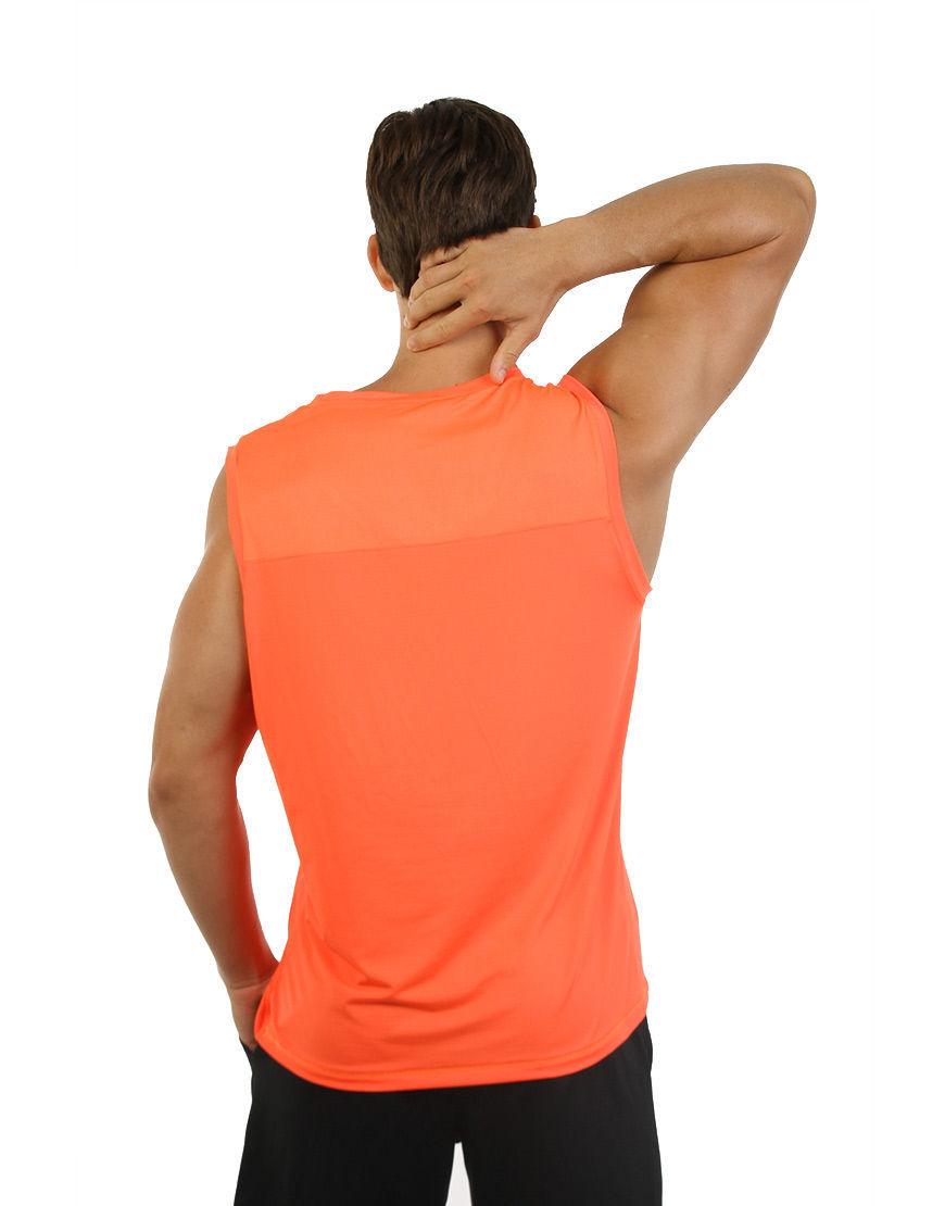 men performance sleeveless back