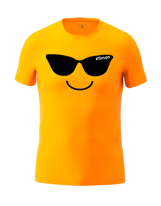 Men's Black Laksh Orange T-Shirt 3D