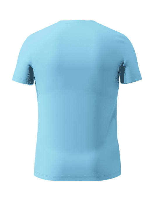 Mo Kontan Twa Men's Blue T-Shirt Back