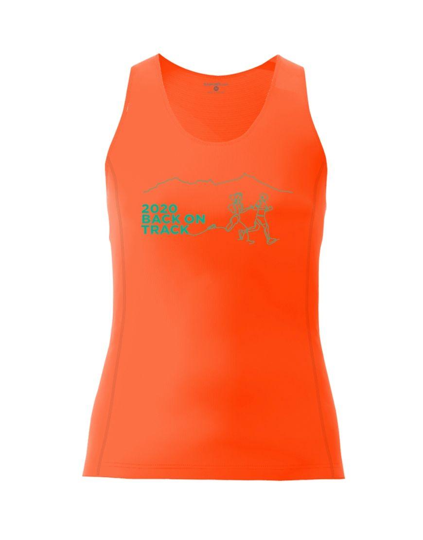 Moka Trail Women's Active Fit Vest - Orange