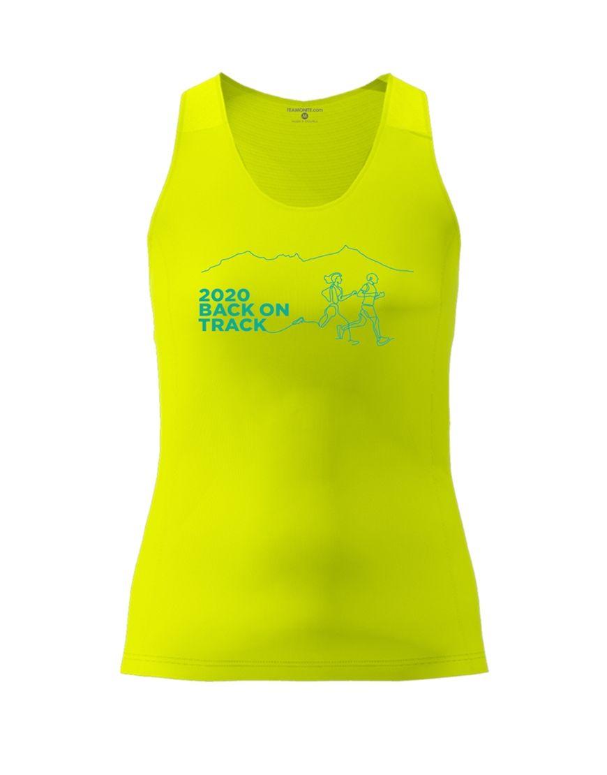 Moka Trail Women's Active Fit Vest - Yellow