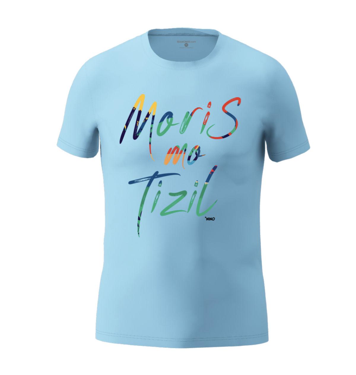 Men's Moris Mo Tizil T-shirt Light Blue