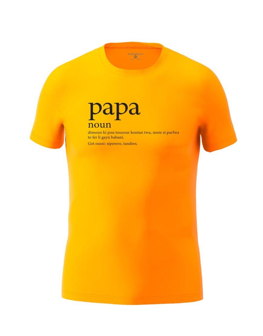 papa definition t shirt orange