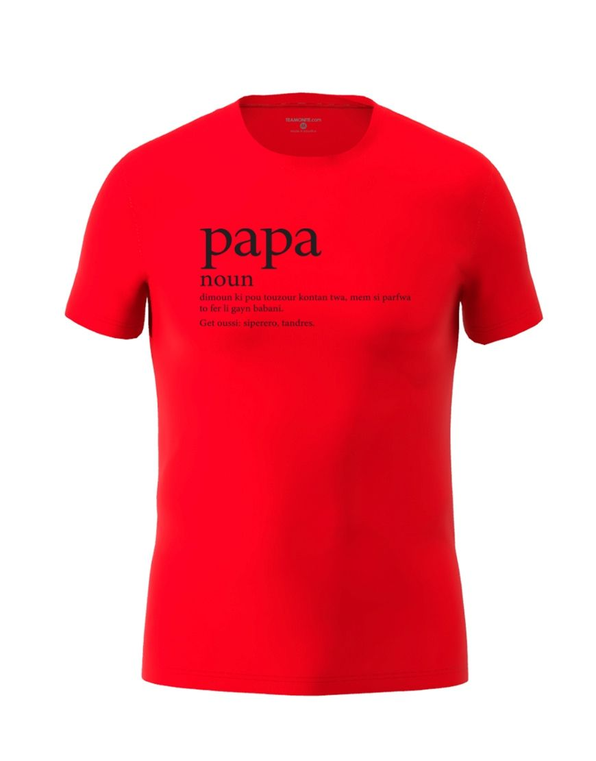papa definition t shirt red