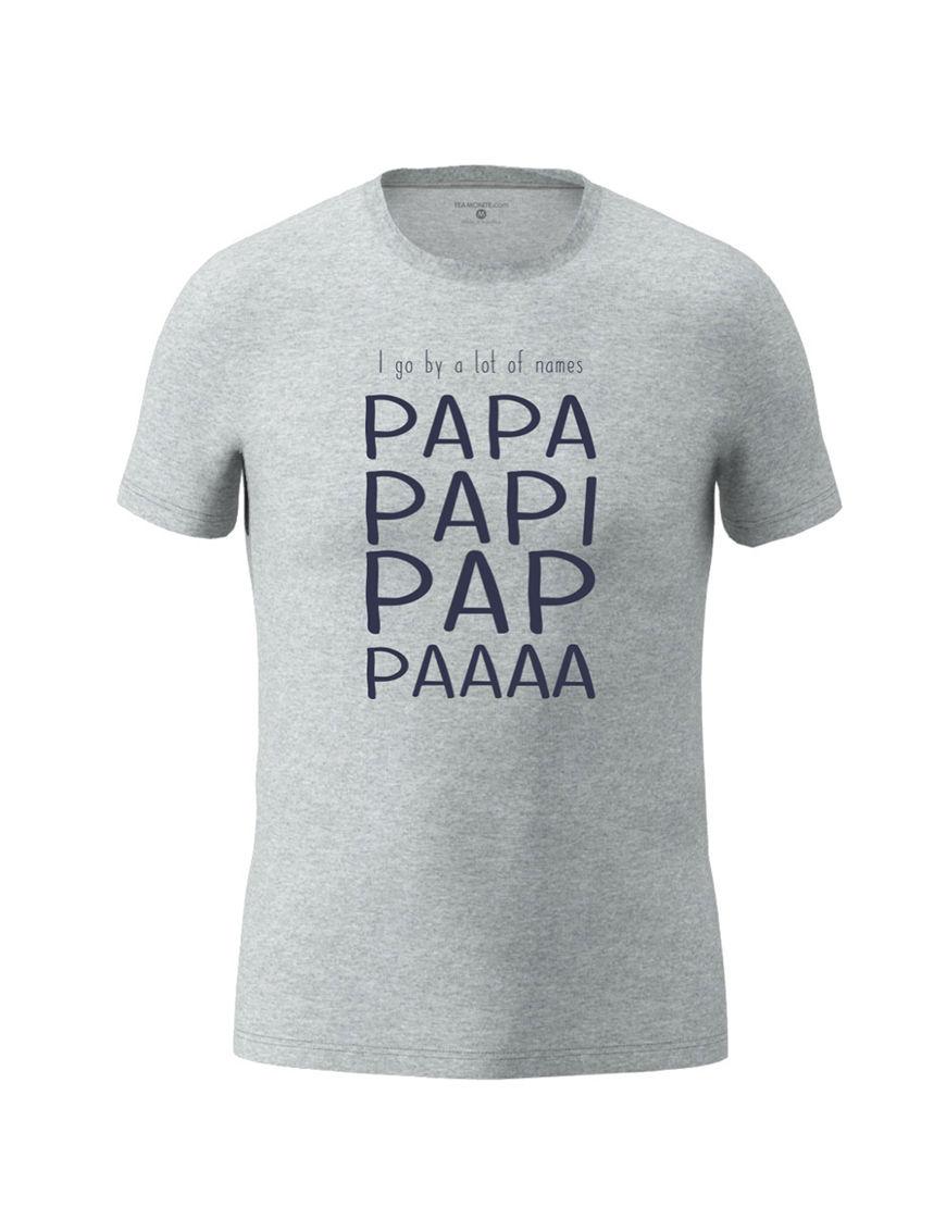 papa nicknames t shirt grey
