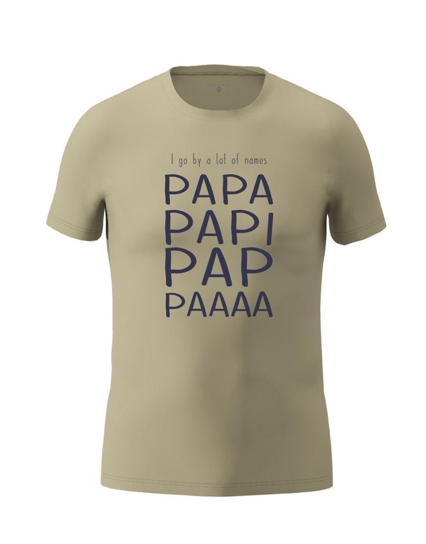 papa nicknames t shirt light khaki