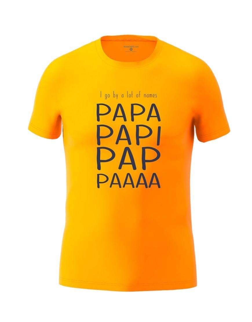 papa nicknames t shirt orange