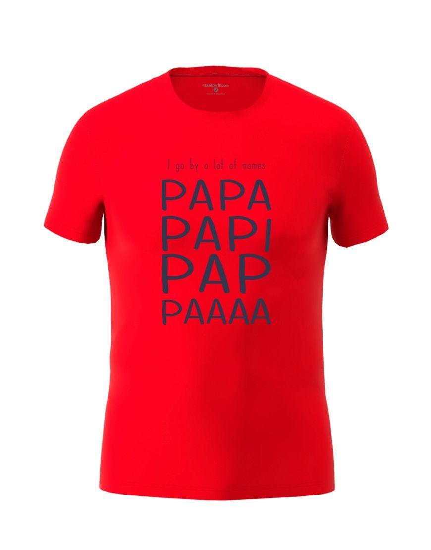 papa nicknames t shirt red