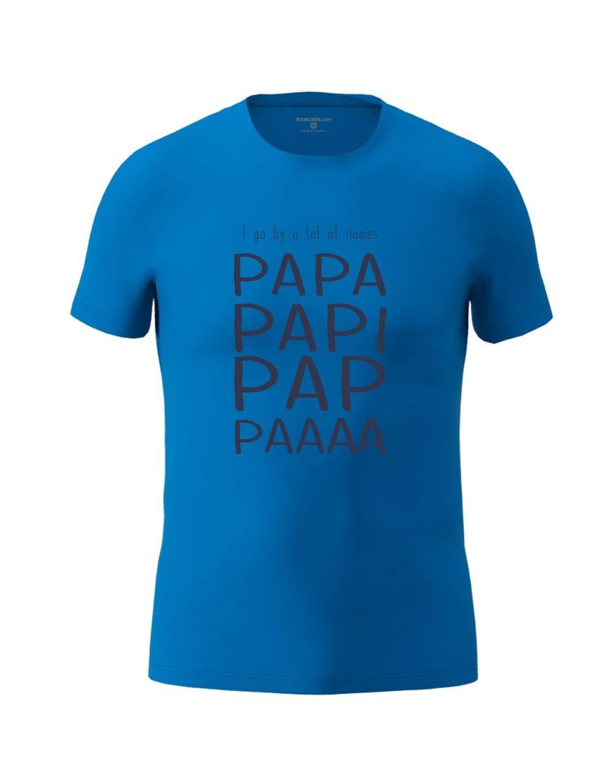 papa nicknames t shirt royal blue