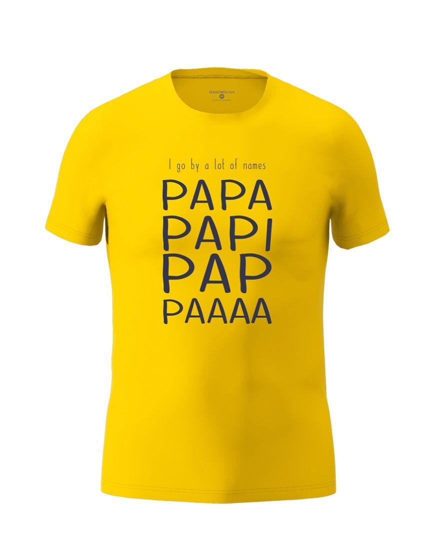 papa nicknames t shirt yellow