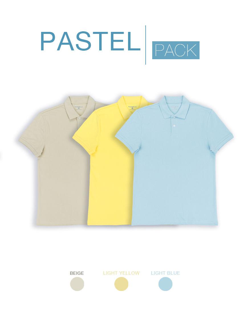 pastel unisex polo pack