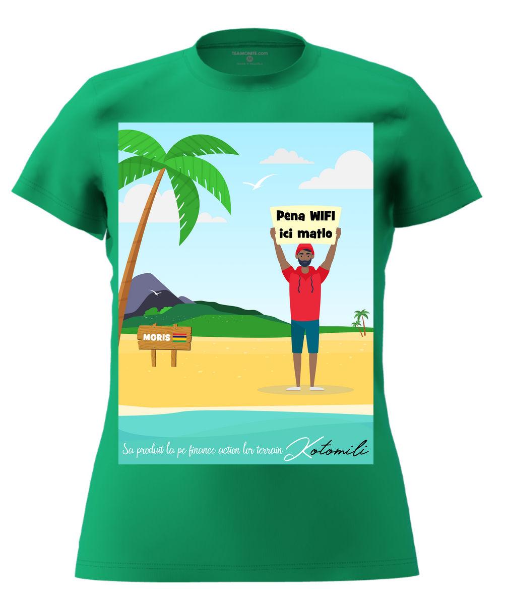 Pena WIFI ici Women's Modern Fit T-Shirt - Green