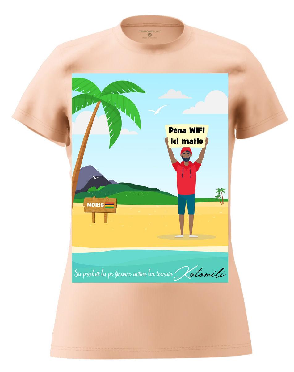 Pena WIFI ici Women's Modern Fit T-Shirt - Rose