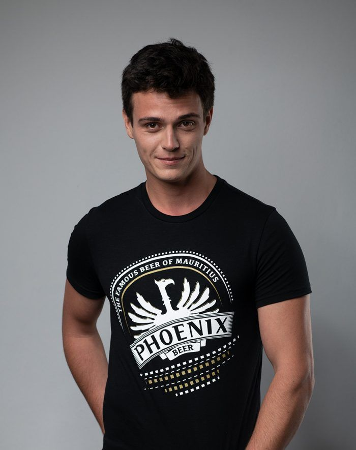 Phoenix the famous beer of Mauritius black t-shirt design