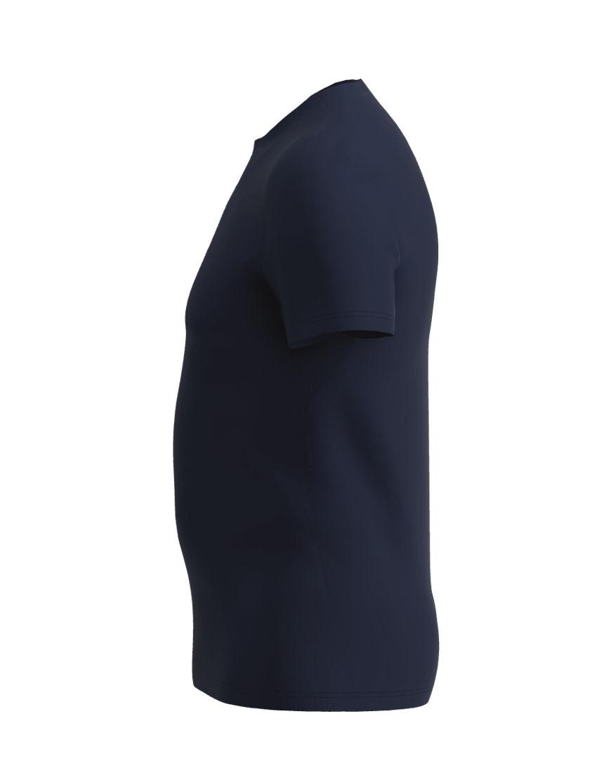 poly cotton stretch unisex 3d t shirt navy left