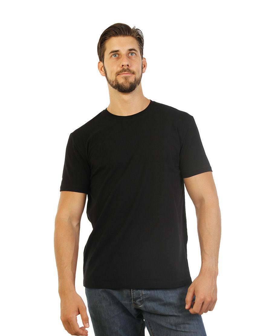 poly cotton stretch unisex t shirt black