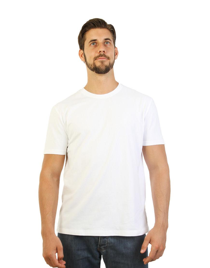 poly cotton stretch unisex t shirt white