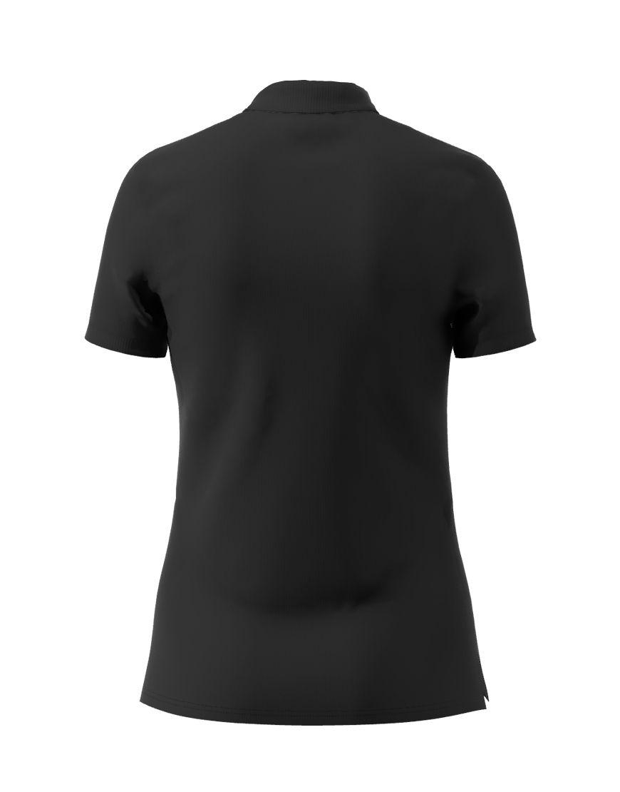 poly cotton women stretch 3d polo black back