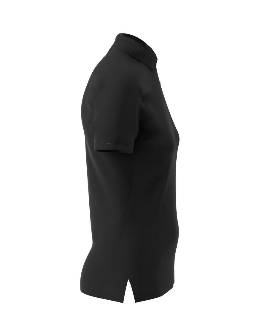 poly cotton women stretch 3d polo black right