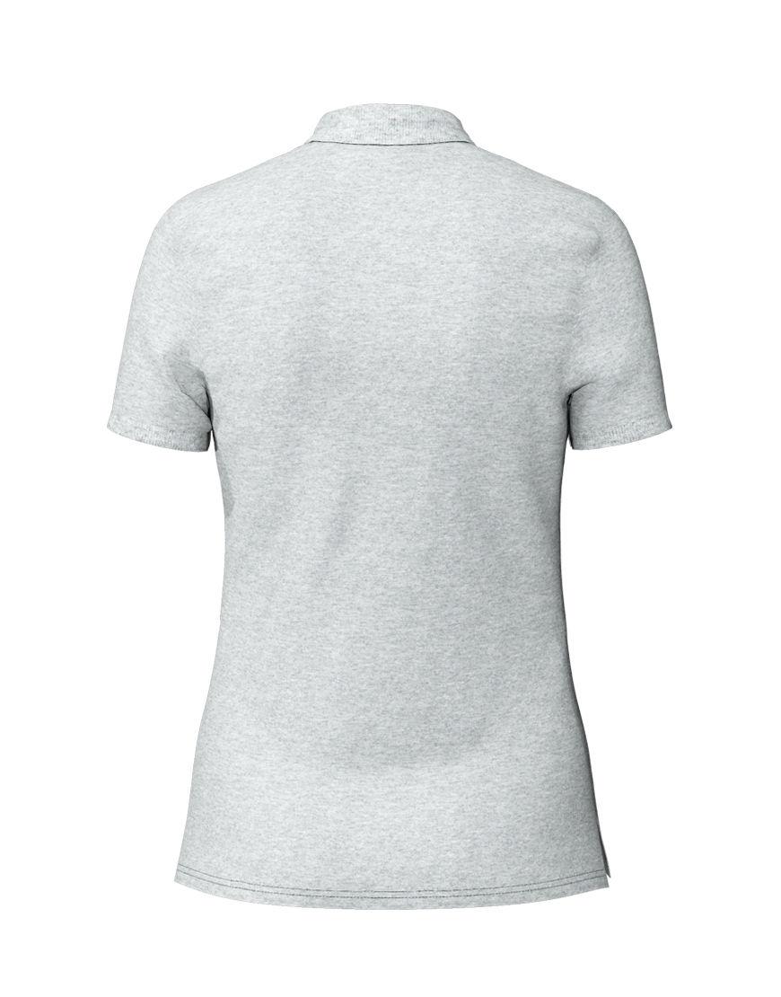 poly cotton women stretch 3d polo grey back