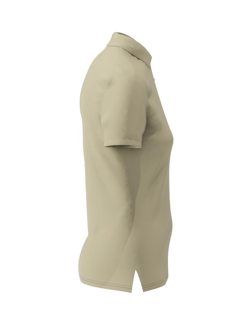 poly cotton women stretch 3d polo light khaki right