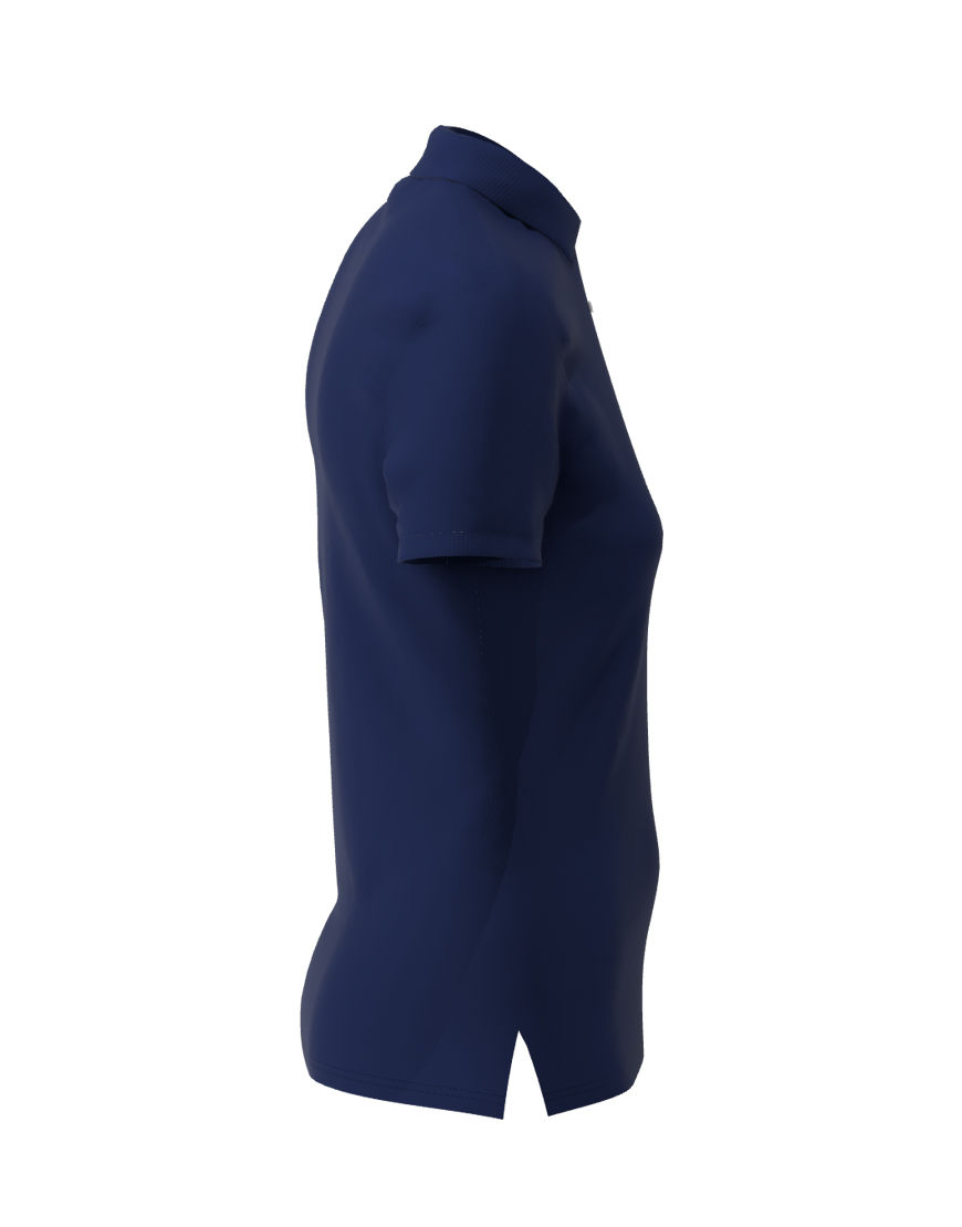 poly cotton women stretch 3d polo light navy right